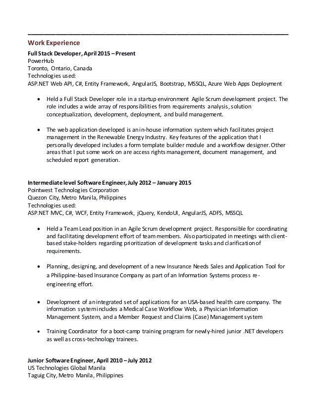 junior software engineer resume junior software developer cv