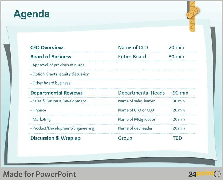 Powerpoint Meeting Agenda Template - Casseh.info