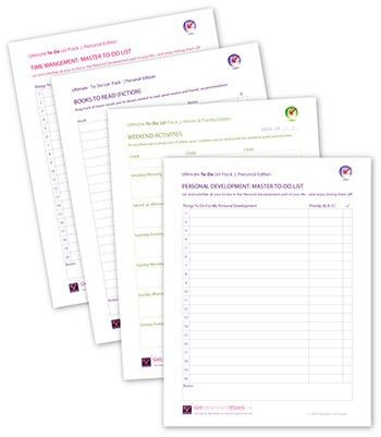 Free Printable To-Do Lists For Work - Get Organized Wizard