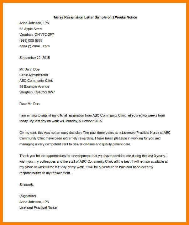 12+ nursing resignation letter 2 week notice | farmer resume