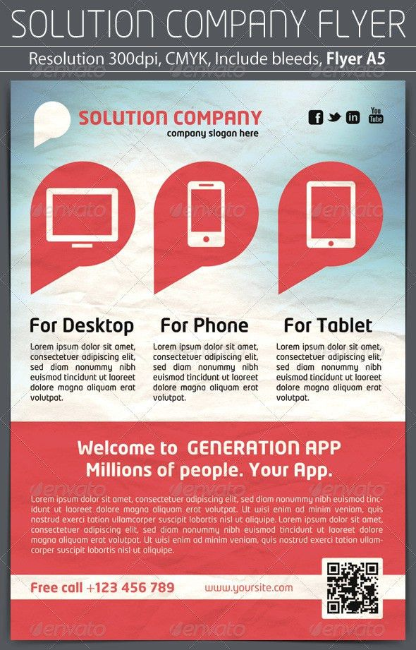 Solution Company Flyer by grapulo | GraphicRiver