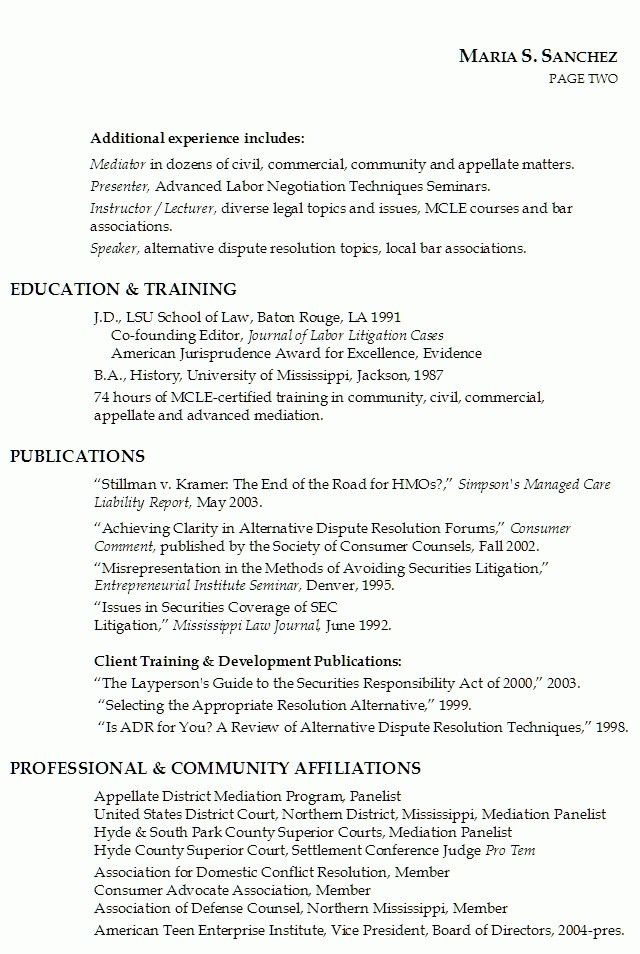 Law Resume [Template.billybullock.us ]