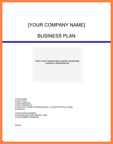 5+ examples of business plan cover page | Bussines Proposal 2017