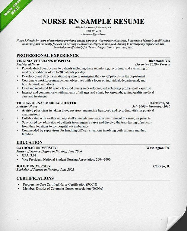Innovation Inspiration New Graduate Nurse Resume 14 Entry - Resume ...