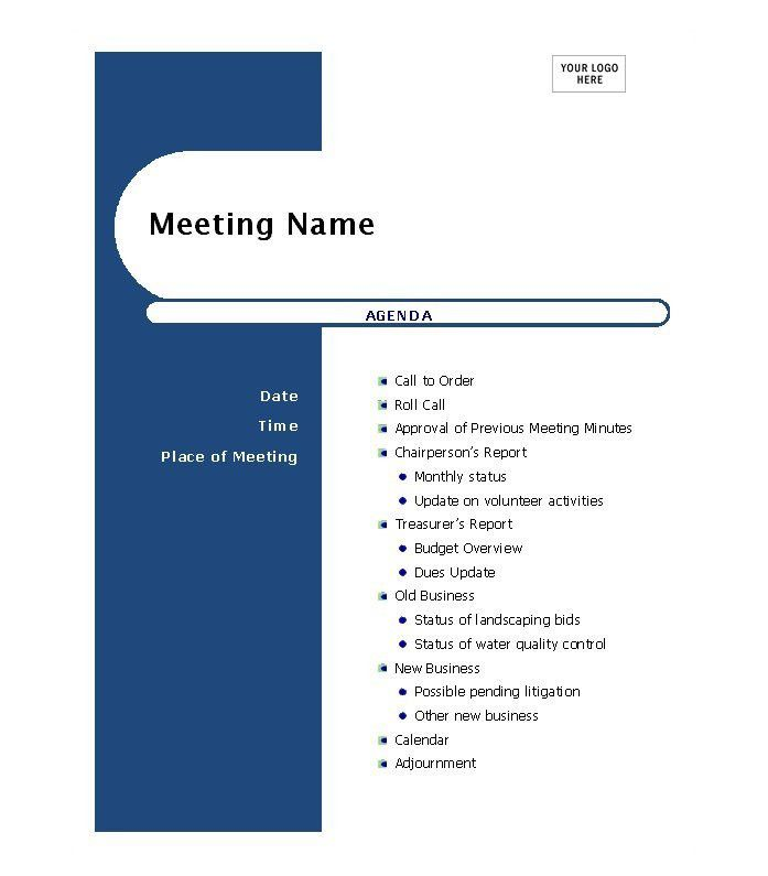 46 Effective Meeting Agenda Templates   Template Lab  Professional Meeting Agenda Template
