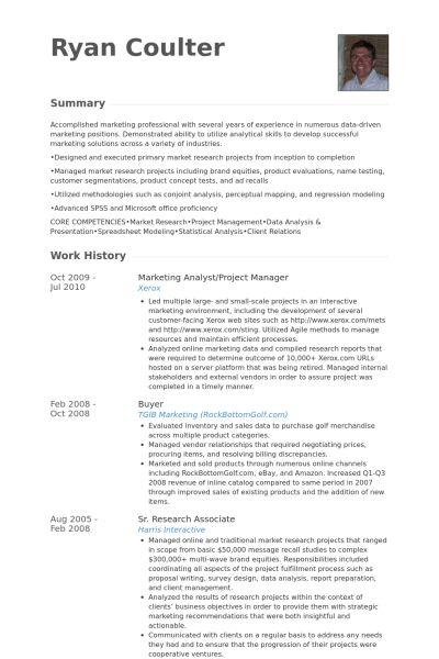 Marketing Analyst Resume samples - VisualCV resume samples database
