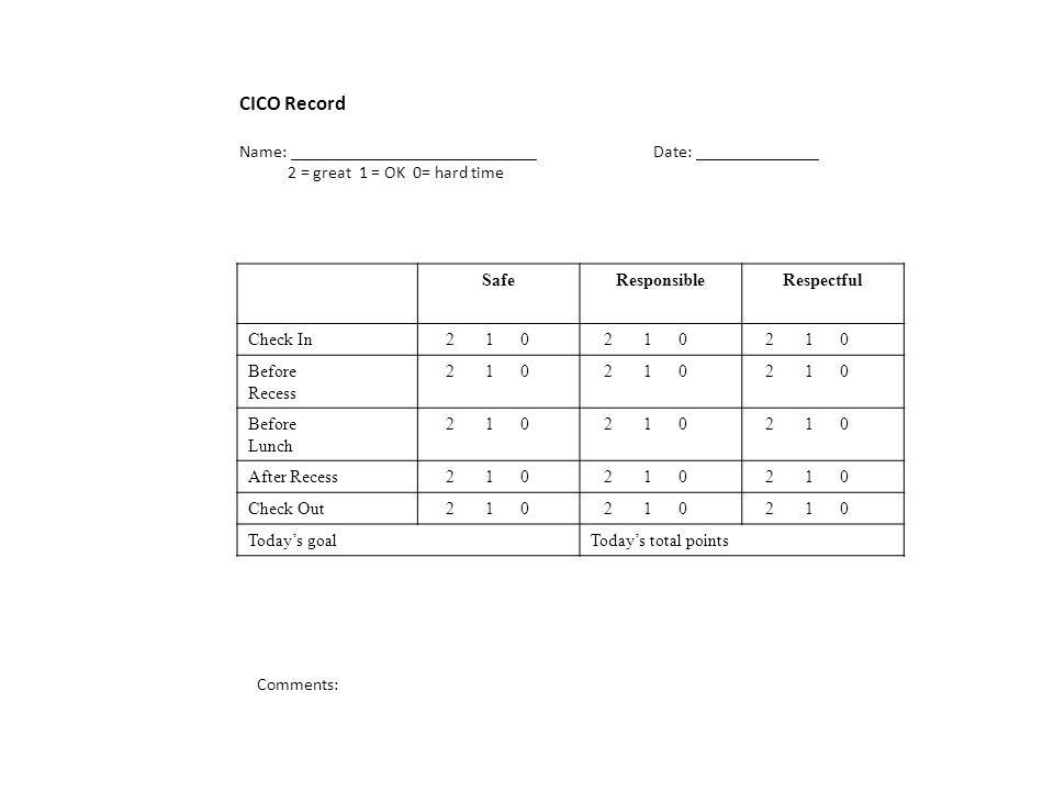 CICO Daily Progress Report Samples. Standard Daily Progress Report ...