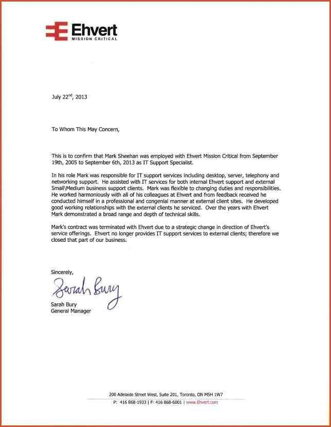 RECOMMENDATION LETTER FROM EMPLOYER   proposal bid template