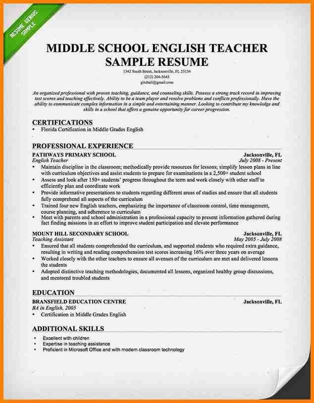Teacher Resume Template Word. Teacher Resume Template Word Teacher ...
