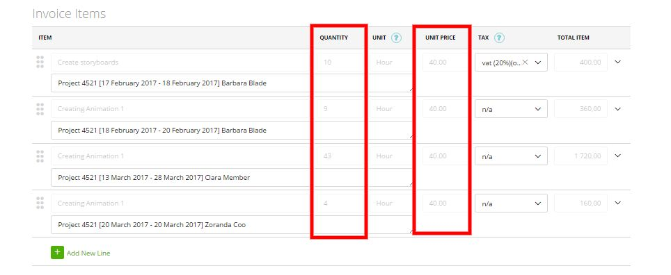 Generate an invoice based on the expenses of the Project ...