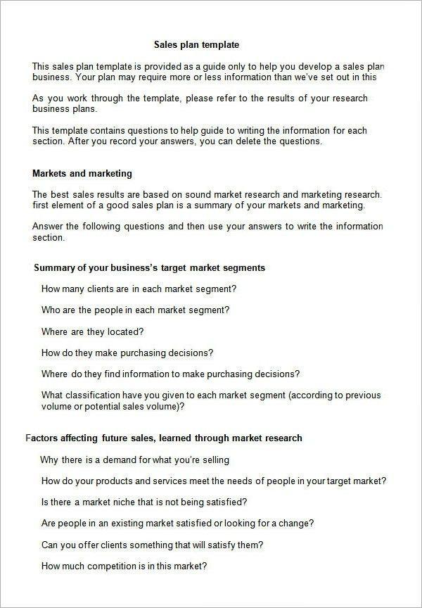 Sales Business Plan Template | Business Plan Template