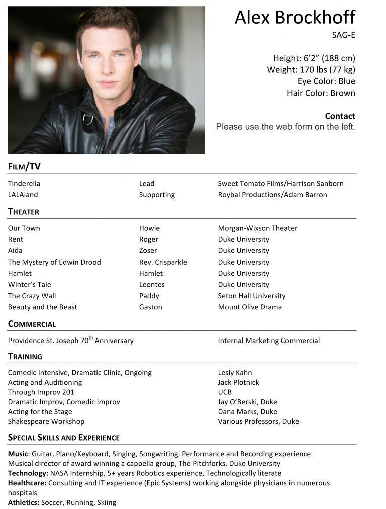 Lovely Actors Resume 3 Free Acting Resume Samples And Examples Ace ...