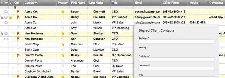 Client Contact List Template | Smartsheet
