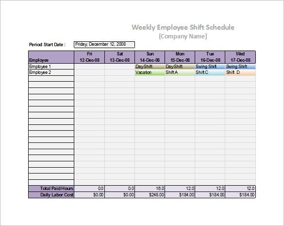 Excel Schedule Template Free Rotation Schedule Template Free Work