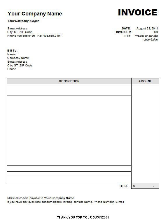 Easy Invoice Software Free | Free Invoice Template
