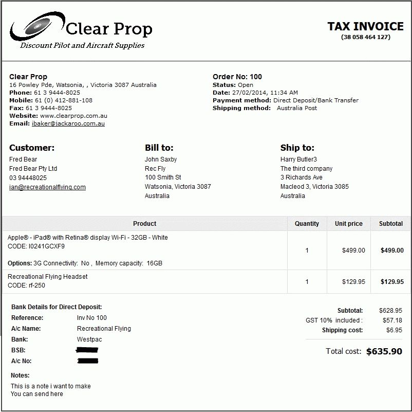 Free Invoice Template - Store Design & Templates - CS-Cart ...