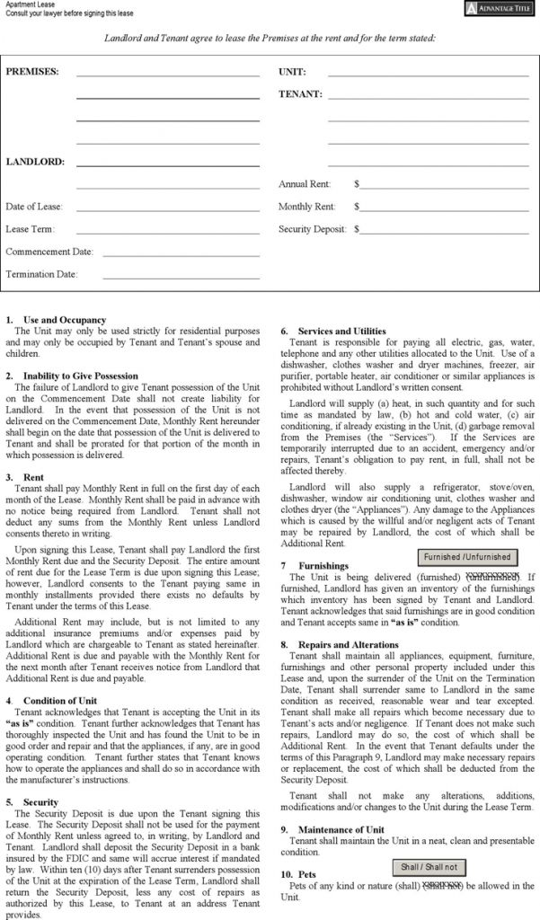 New York Rent And Lease Template Download Free Forms Samples ...