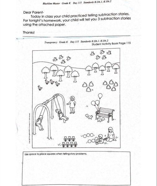 Common Core kindergarten math homework stumps | The Daily Caller