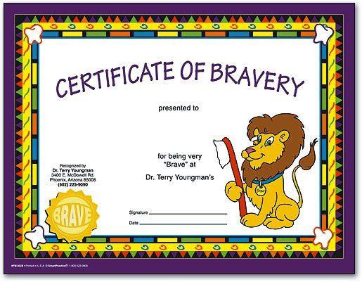 Certificates Make Kids Feel Like Superstar Patients ...