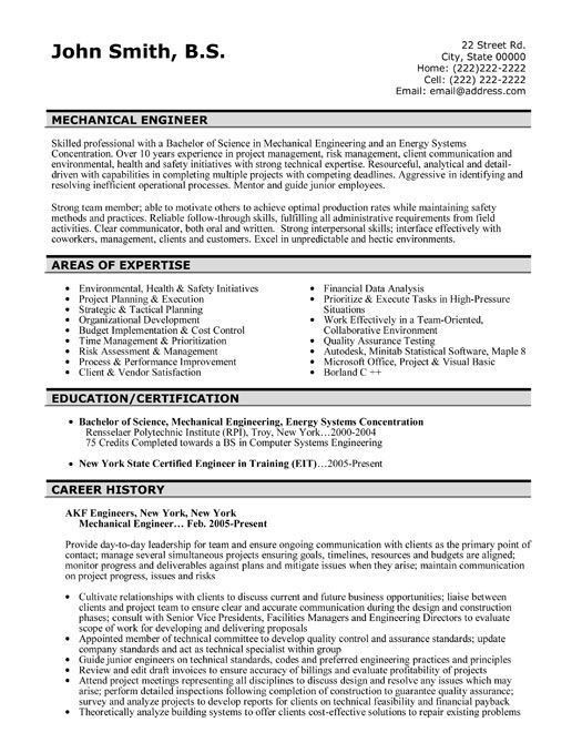 Resume Example Engineer. Graduate Engineer Example 49+ Engineering ...