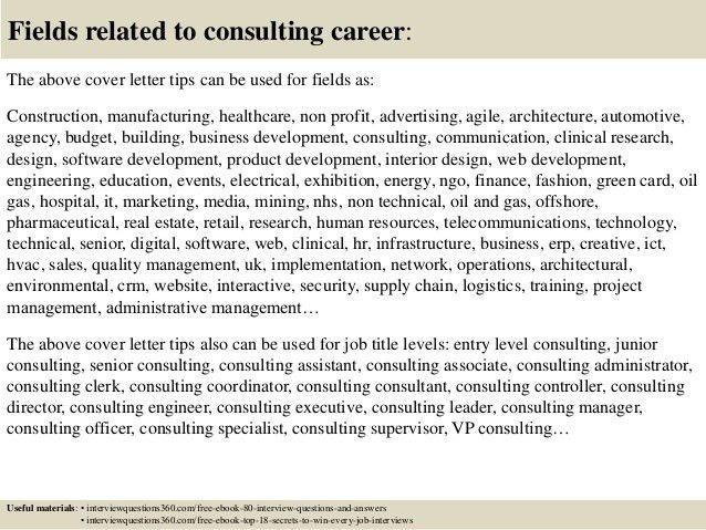 Top 10 consulting cover letter tips