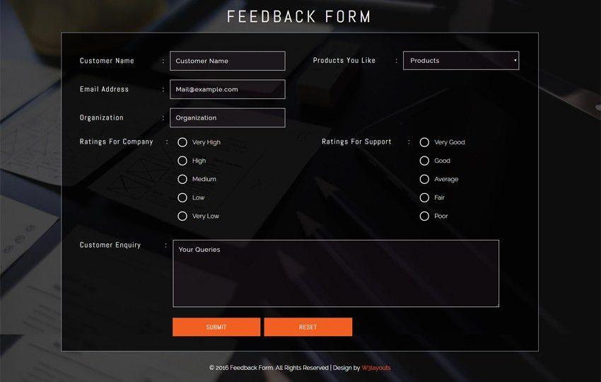 feed back form - w3layouts.com