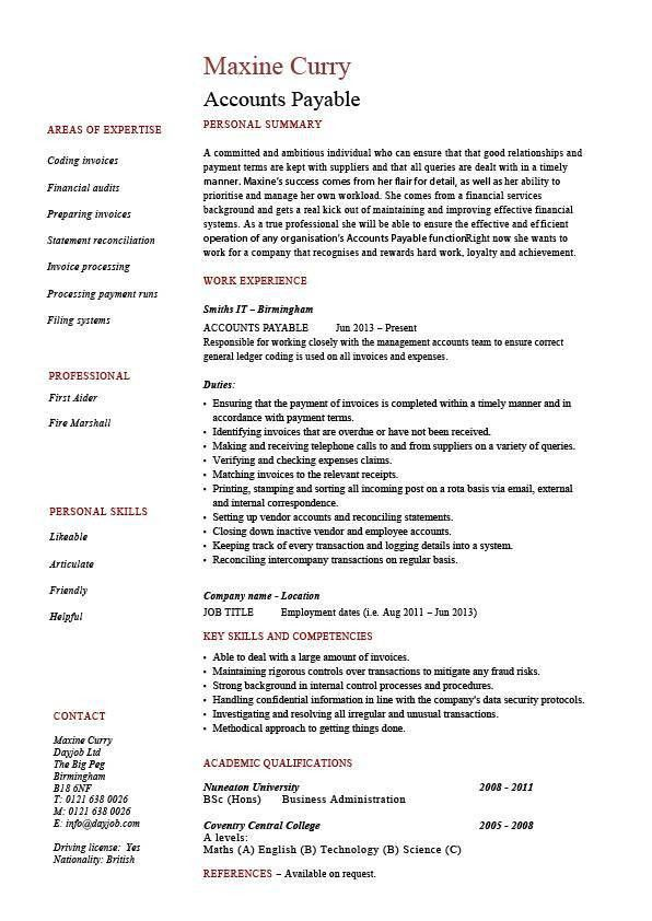 Download Job Description Sample Resume | haadyaooverbayresort.com
