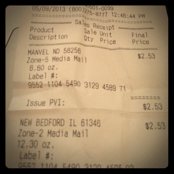 Shipment receipt for Tevavold and Christina7816 OS from Monika's ...