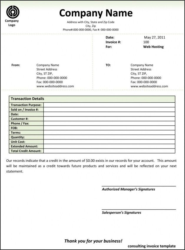 Contractor Invoice Template Word | Design Invoice Template