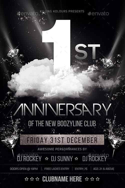 Best of Anniversary Flyer Templates - Free and Premium Flyer ...