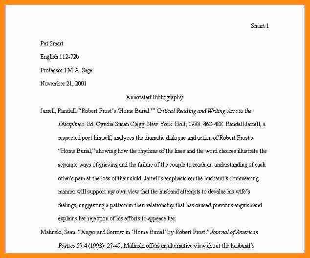Bibliography Example Mla] 10 Mla Annotated Bibliography Templates ...