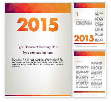 2015 in Modern Flat Style Word Template 12784 | PoweredTemplate.com