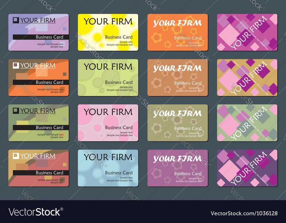 Business Name Card Set Royalty Free Vector Image