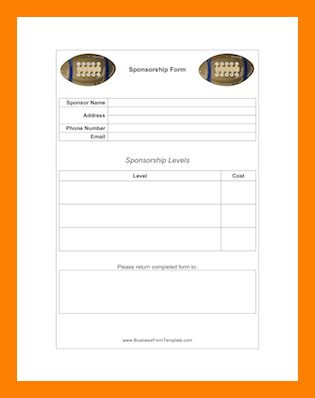 6+ sponsorship forms templates | teller resume