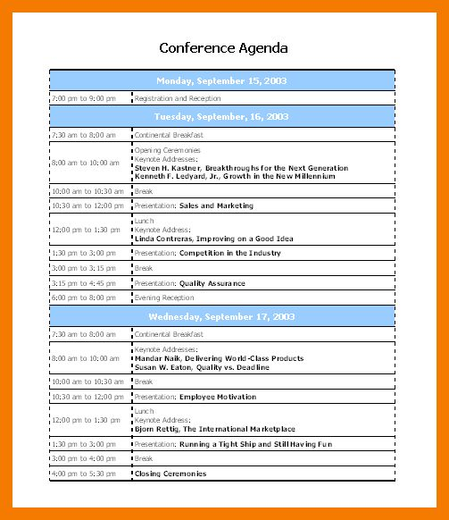 Conference Schedule Template. 30 awesome wordpress themes for ...