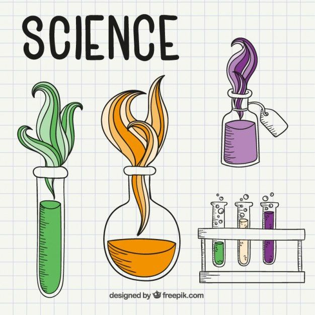 Science drawings on a notebook paper Vector | Free Download