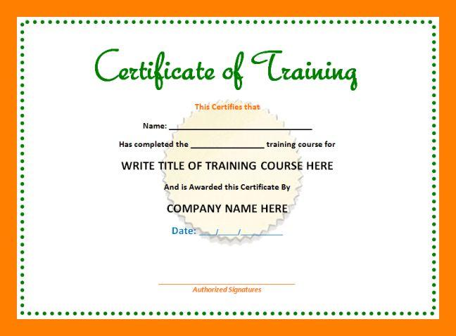9+ training certificates format | teller resume