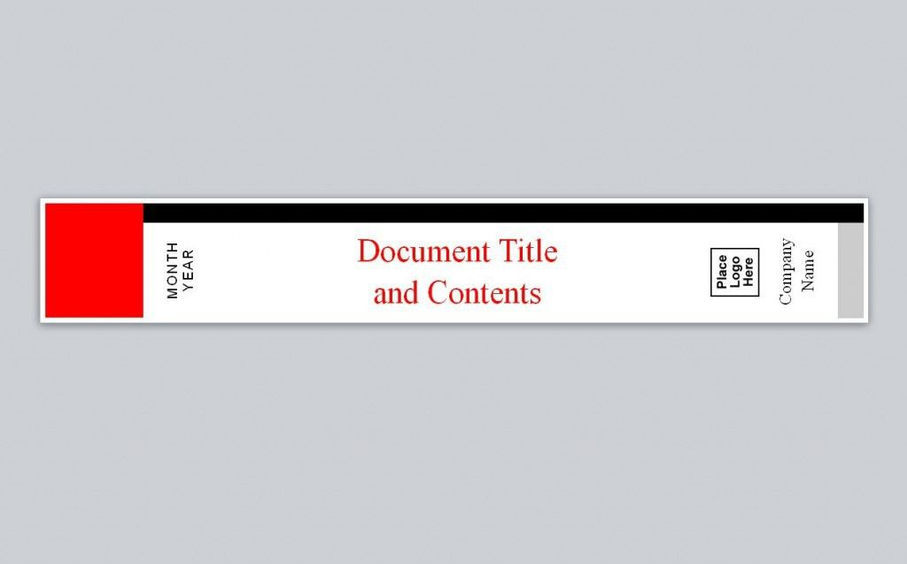 Compatible with Avery Binder Spine Template