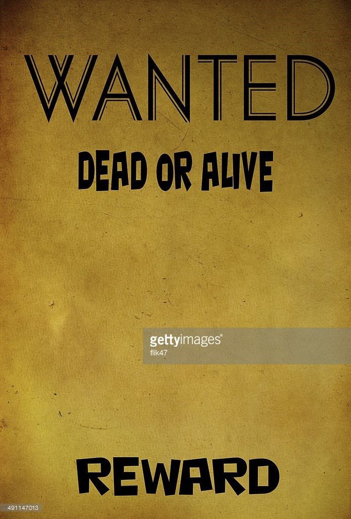 Vintage Wanted Poster Template Stock Photo | Thinkstock