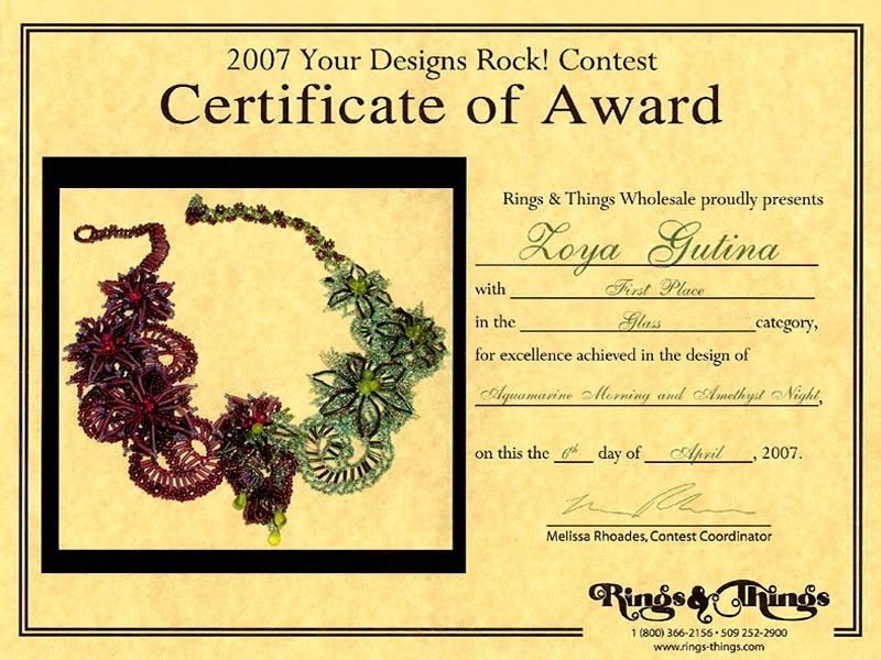 2007 Gemstone and beaded jewelry contest: First Place Winner ...