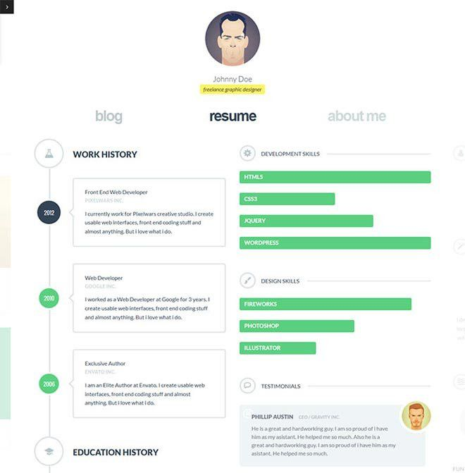 12 Super Creative Interactive Online Resumes Examples