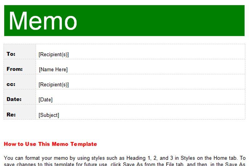 Interoffice Memo template (For Word) - Dotxes