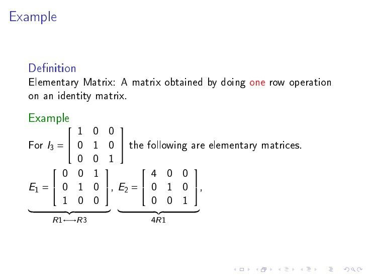 Matrix multiplication, inverse
