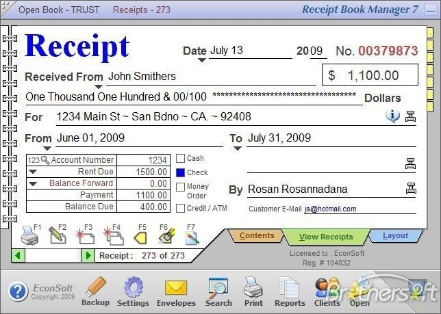 Download Free Receipt Book Manager, Receipt Book Manager 7.0.0 ...