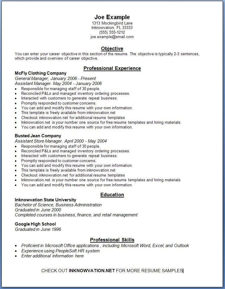 Online Resume Template Free. online resumes examples free online ...