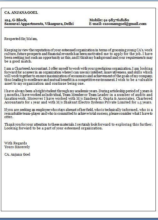 associate accountant cover letter