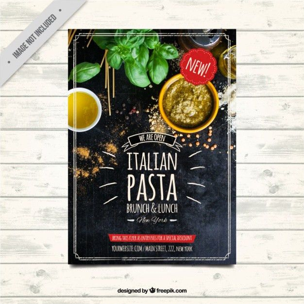 Restaurant brochure template in vintage style Vector | Free Download