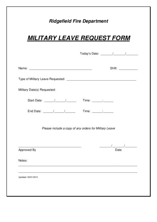 Top Military Leave Form Templates free to download in PDF, Word ...