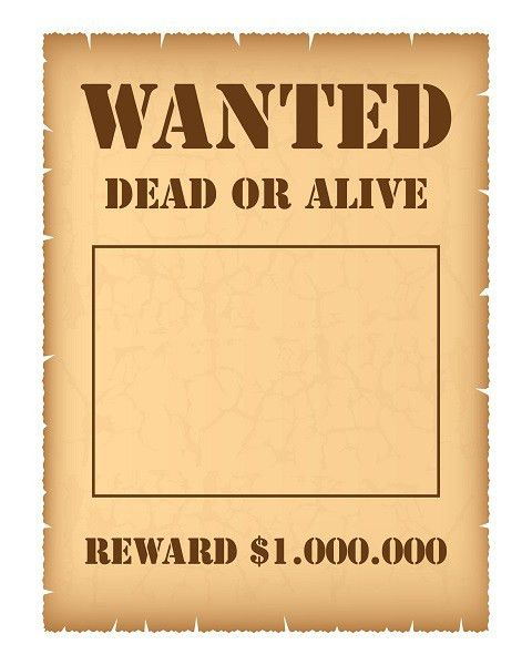 free blank wanted template