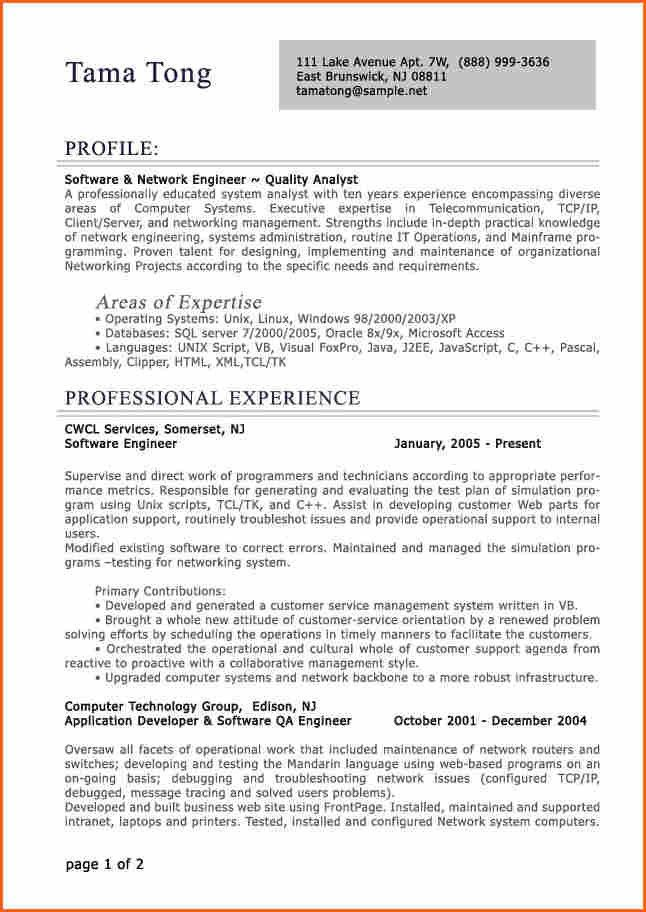 10+ IT Resume Template - Budget Template Letter